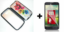 LG Optimus Exceed 2 VS450PP Hybrid Phone Case+Screen Protector - Colorful Flower