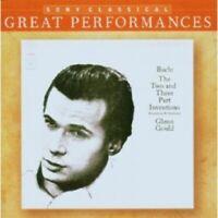 GLENN GOULD - GREAT PERFORMANCES /INVENTIONEN+SINFONIA  CD  34 TRACKS BACH  NEW
