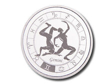 Zodiac Horoscope | Gemini | 1 oz .999 Silver BU Round USA Made Bullion Coin