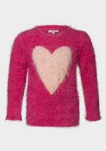 Sugar Squad Girls  fluffy Heart Jumper Fits 6-7years