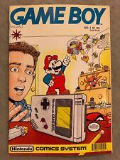 Gameboy #1 Super Mario Nintendo Comics System Valiant 1990