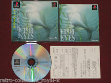 *Complete* PS1 Game FISH EYES NTSC-J Japan PlayStation Reel Fishing