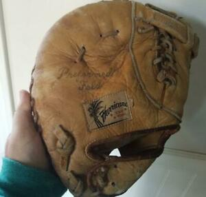 Vintage Hurricane Hall of Fame Pro Model L334 Leather Baseball Glove Japan