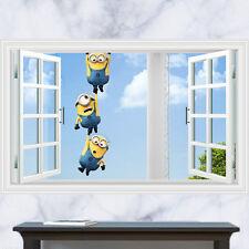 Minions Ventana Pegatinas de pared, niño, Kevin, Stuart, Bob, Despicable me, Muchacho, Muchacha