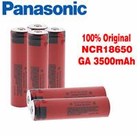 Panasonic NCR18650GA 3500mAh 3.7v Li-Ion Rechargeable Battery Button Top NEW lot