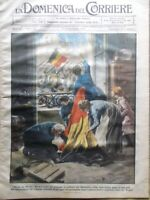 La Domenica del Corriere 3 Novembre 1918 WW1 Conte Salemi Cengio Belgio Tedeschi