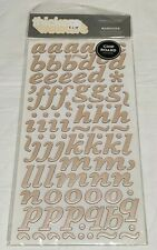 American Crafts Thickers Marquise Beige Pearl Letter Chip Board Stickers Numbers