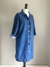 TOAST The Fabulous Akira Denim Relaxed Fit Shirt Dress Size 16 poss 18