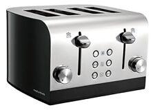 Morphy Equip 4 Scheiben Toaster, 4 Schlitz Toaster 241000 Edelstahl/Schwarz