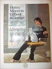ARTE: HENRY MOORE to Gilbert & George 1973 Tate con postilla Patrick Heron