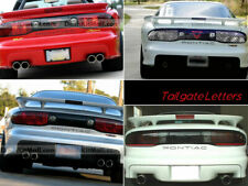 Dkm | Glossy Black Rear Bumper Letters For Pontiac Firebird 1993-2002 Not Decals