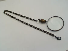 Quality Steampunk Victorian Monocle 5x Magnifying Eye Glass Antique Tone