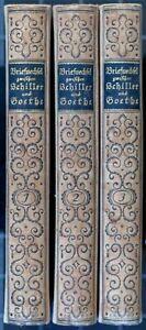 Der Briefwechsel zwischen Schiller und Goethe. 3 Bde. Insel. 1912.