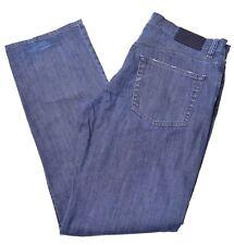 Lacoste para Hombres Jeans EU 44 W35 L34 BG09 Recta De Algodón Azul