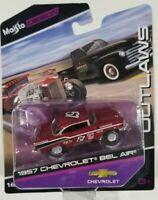 1957 Chevrolet Bel Air  (Maisto) Outlaws Edition 1/64 Scale Diecast Car VHTF