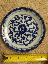 Chinese Qing Dynasty blue-and-white porcelain plate