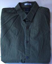Leggiuno Woven in Italy Slim Fit Men's Dk Green Print L/S Button Front Shirt L