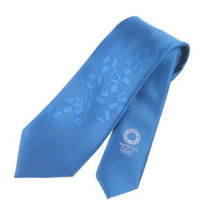 Tokyo 2020 Olympic Sports Fashion Necktie Light Blue Official Licensed Goods