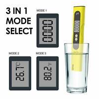 Pocket LED Digital PH LCD Test Meter Hydroponic Pool Water Aquarium Tester Pen