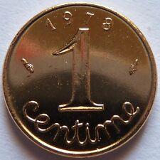 1 Centime Epi 1978  plaqué Or. Pour faire un cadeau. Souvenir du Franc de 40 ans