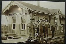 Vintage RP Moundville Missouri Mo Trian Station Depot Classic Photo Image