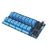 12V Active Low 16-Kanal Relais Modul Brett fuer Arduino PIC AVR MCU DSP ARM C5C5