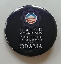 Official Campaign Asian Americans Pacific Islanders for Obama Button / Pin