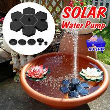 Solar Powered Fountain Water Pump Bird Bath Floating Garden Pond Pool Fish Tanks