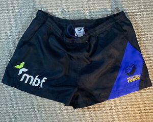 WESTERN FORCE PLAYER ISSUE RUGBY SHORTS MENS 34 TRAINING WALLABIES AUSTRALIA