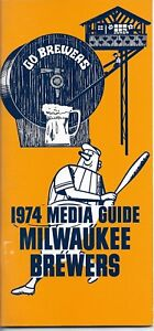 1974 MILWAUKEE BREWERS MLB MEDIA GUIDE VINTAGE FREE SHIPPING