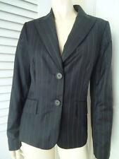 ANN TAYLOR Blazer Sz 6 Wool Blend Black Pinstripe Buttons Lined NEW 218 CLASSY!