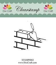 Dixi Crafts Clearstamp Stamp BRICKS DCSTAMP0063