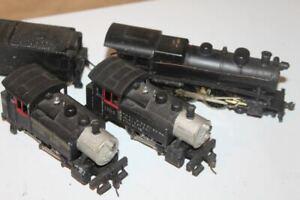 VINTAGE LOT OF 3 HO STEAM TRAIN ENGINES LOCOMOTIVE METAL