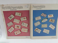 Paperweights Cross Stitch Pattern Leaflets Lot of Two Pam & Pat Waters 1980's