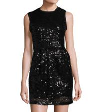 NWT Nanette Lepore Not Fade Away Sheath Dress Black Sequin Size 0 Orig $598