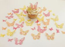 48 Edible Abigail Collection Butterflies Pre Cut Wafer Cupcake Toppers