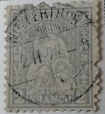Switzerland Scott #41 and #43-45 used 1862