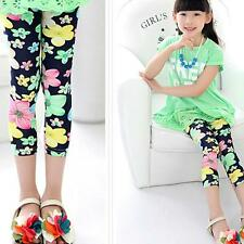 Fashion Summer Lovely Girl Leggings flowers Elastic Waist Legging Clothing Pants