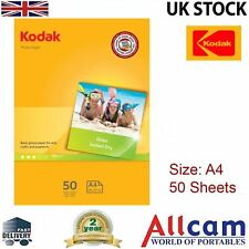 50 Sheets: Kodak Glossy Photo Paper A4 (210 x 297 mm) 180 g/m2, RETAIL