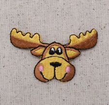 Moose Head - Pink Cheeks - Animals - Iron on Applique/Embroidered Patch