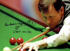 Alex HIGGINS Signed Autograph Large 16x12 SNOOKER Photo AFTAL COA