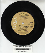 """VILLAGE PEOPLE  Can't Stop The Music  7"""" 45 rpm record + juke box title strip"""