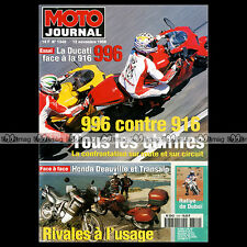 MOTO JOURNAL N°1349 DUCATI 916 996 HONDA NT 650 DEAUVILLE XL 600 V TRANSALP 1998