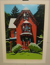 ORIGINAL JON CARSMAN *FADED GLORY* VICTORIAN HOUSE SIGNED L/E MODERN SILKSCREEN