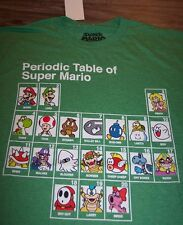 FUNNY PERIODIC TABLE OF SUPER MARIO Nintendo T-Shirt SMALL NEW w/ TAG