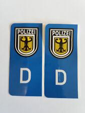 D-Sticker Autoaufkleber Kennzeichen Wappen Polizei NEU