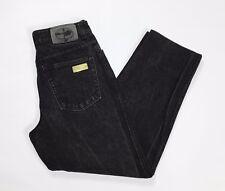 Trussardi jeans w32 tg 46 affusolati boyfriend hot usati carota nero uomo T2607