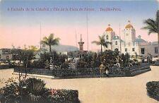 B86383 fachada de la catedral y pila de la plaza de armas  trujillo  peru