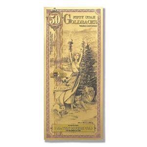 50 Utah Goldback Aurum Gold Foil Note 1/20 oz 24KT