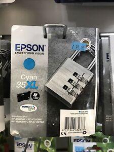 Epson Ink/35XL Padlock 20.3ml 1900 Page Yield, Cyan - C13T35924010